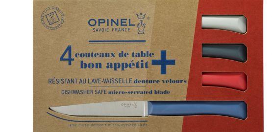Set of 4 table knives N°125 Bon Appetit + Primo (variegated colours)